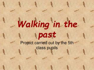 Walking in the past