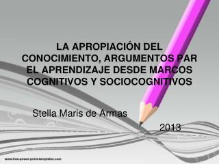 Stella Maris de Armas 2013