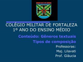 COL�GIO MILITAR DE FORTALEZA 1� ANO DO ENSINO M�DIO
