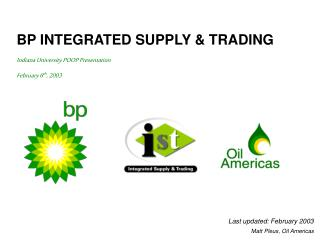 BP INTEGRATED SUPPLY & TRADING
