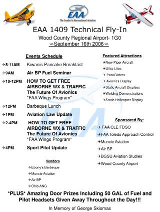 EAA 1409 Technical Fly-In