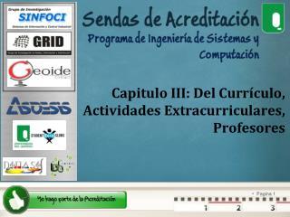 Capitulo III: Del Curr�culo, Actividades Extracurriculares, Profesores