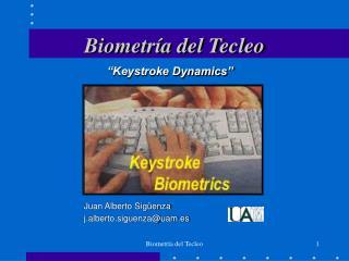 Biometría del Tecleo