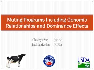 Mating Programs Including Genomic Relationships and Dominance Effects