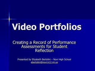 Video Portfolios
