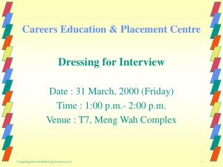 Careers Education & Placement Centre