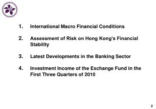 International Macro Financial Conditions Assessment of Risk on Hong Kong's Financial Stability