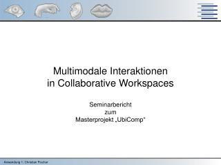 "Multimodale Interaktionen in Collaborative Workspaces Seminarbericht  zum Masterprojekt ""UbiComp"""