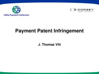 Payment Patent Infringement