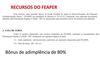 RECURSOS DO FEAPER