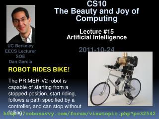 Robot rides bike!