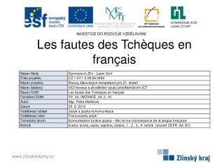 Les fautes des Tch èques en français