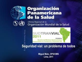 Seguridad vial: un problema de todos Miguel Malo, OPS/OMS Lima, 2011