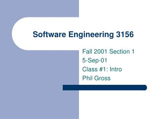 Software Engineering 3156
