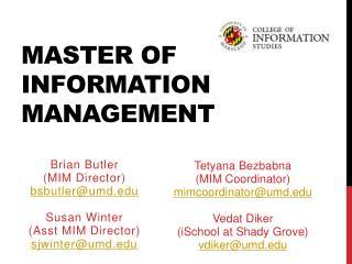 Master of Information Management