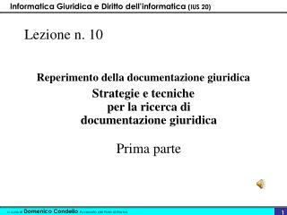 Lezione n. 10