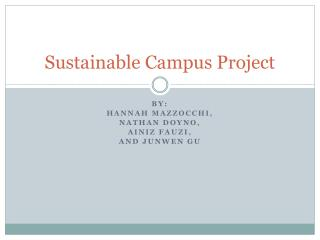 Sustainable Campus Project