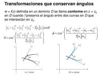 Transformaciones que conservan ángulos