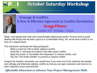 October  Saturday Workshop