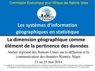 Les systèmes d'information géographiques en statistique