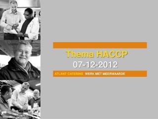 Thema HACCP