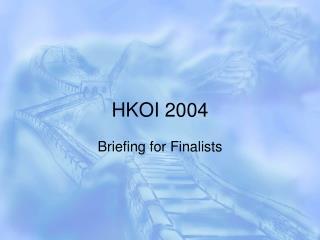 HKOI 2004