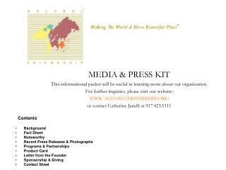 MEDIA & PRESS KIT