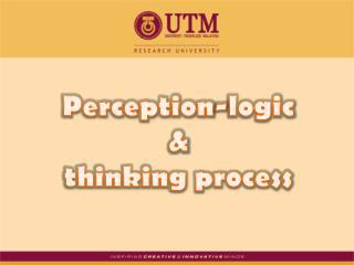 Perception-logic  &  thinking process