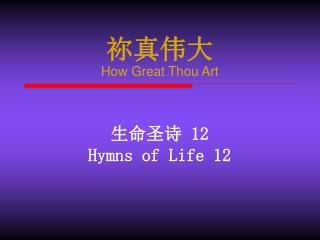祢真伟大 How Great Thou Art