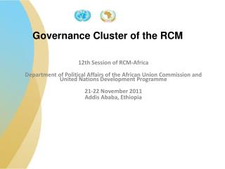 Governance Cluster of the RCM
