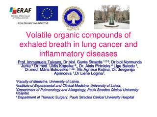 Volatile organic compounds of exhaled breath in lung cancer and inflammatory diseases