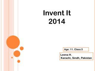 Invent It 2014