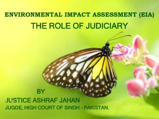 ENVIRONMENTAL IMPACT ASSESSMENT (EIA) THE ROLE OF JUDICIARY