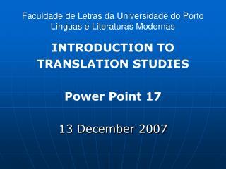 Faculdade de Letras da Universidade do Porto Línguas e Literaturas Modernas