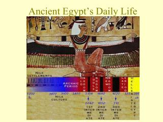 Ancient Egypt�s Daily Life