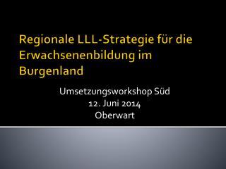 Regionale LLL-Strategie für die Erwachsenenbildung im Burgenland