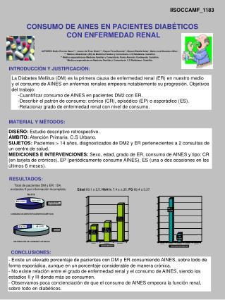 CONSUMO DE AINES EN PACIENTES DIAB�TICOS CON ENFERMEDAD RENAL
