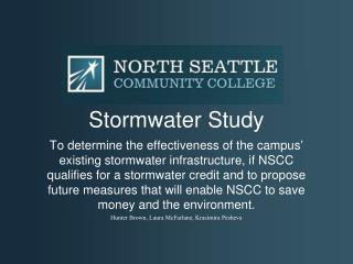 Stormwater Study