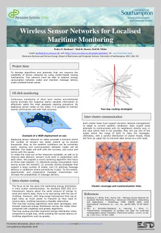 Wireless Sensor Networks for Localised Maritime Monitoring