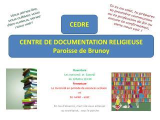 CEDRE Centre de documentation religieuse pour les adultes et les enfants