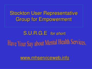 Stockton User Representative Group for Empowerment