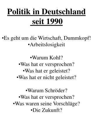 Politik in Deutschland  seit 1990