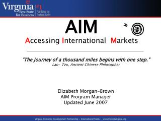 AIM A ccessing  I nternational  M arkets
