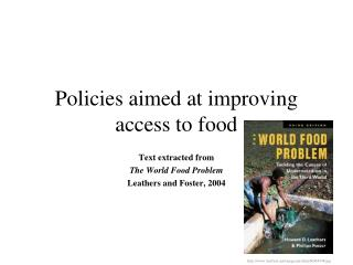 Policies aimed at improving access to food