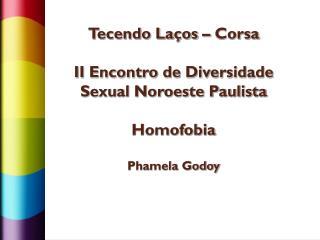 Tecendo Laços – Corsa II Encontro de Diversidade Sexual Noroeste Paulista  Homofobia Phamela Godoy