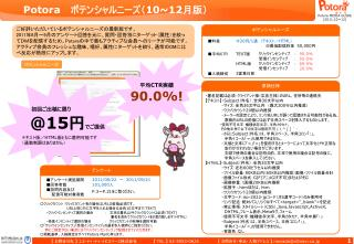 Potora    ポテンシャルニーズ( 10~12 月版)