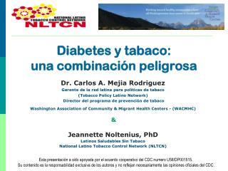 Diabetes y tabaco:  una  combinación  peligrosa