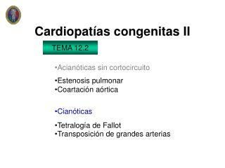 Cardiopat as congenitas II