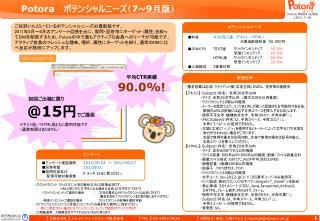 Potora    ポテンシャルニーズ( 7~9 月版)