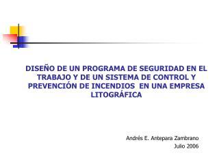 Andr�s E. Antepara Zambrano Julio 2006